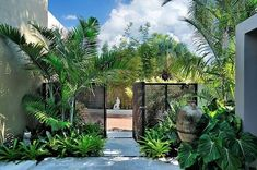 50 Awesome Tropical Garden Landscaping Ideas – LUVLYDECORA – Awesome Tropical G… - low maintenance front yard landscaping ideas Tropical Garden Design, Tropical Backyard, Garden Landscape Design, Landscape Architecture, Tropical Gardens, Architecture Design, Landscape Steps, Tropical Plants, Tropical Landscaping