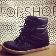 Topshop wedge sneakers. why don't they have these here???