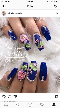 We know you love your weekly mani-pedi, but aren't you getting a little bit tired of the same old pale pinks, nudes, or black? If you're feeling daring you could always try a bright red or blue, but w 3d Acrylic Nails, 3d Nails, Cute Nails, Pretty Nails, Funky Nail Art, 3d Nail Art, Art 3d, Beautiful Nail Art, Gorgeous Nails