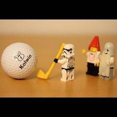 QUIET PLEASE! Trooper is so concentrating. #lego #minifigures #starwars #stormtrooper #cute #photo #instaphoto #instalego #legostagram #toys #toystagram #brick #golf #ball #レゴ #ミニフィグ #スターウォーズ #ストームトルーパー #ゴルフ #お静かに () by legograph.ta163