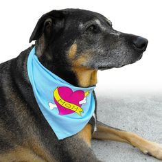 Dog Bandana with Dog Mom Tattoo. $12.99, via Etsy.