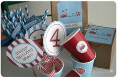 Train theme 4th Birthday | CatchMyParty.com