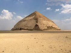 #tours_in_egypt The bent pyramid of king senfru  2550 BC . www.egypttravelgateway.com info@egypttravelgateway.com