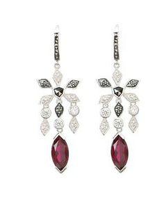 Judith Jack 60292701 Frosted Glaze Drop Earring #accessories  #jewelry  #earrings  https://www.heeyy.com/suggests/judith-jack-60292701-frosted-glaze-drop-earring-marcasite-crystal-ruby-spinel/