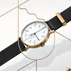 The Tide timepiece by Australian brand AÃRK is a reference to the rise and fall of the sea caused by the pull of the moon and sun. #watches #design