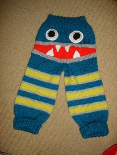 Monster Leggings I knitted with a Raggedy_Moo Designs Pattern from Etsy she has a facebook page too