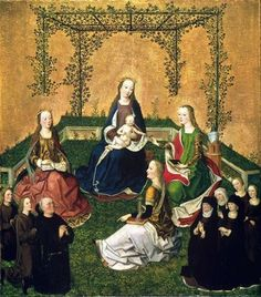 Madonna and Child with Saints Katherine, Barbara, Mary Magdalene, and a donor family, c. 1470