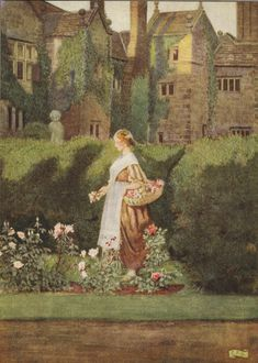 Eleanor Fortescue Brickdale illustration |  There is a garden in her face