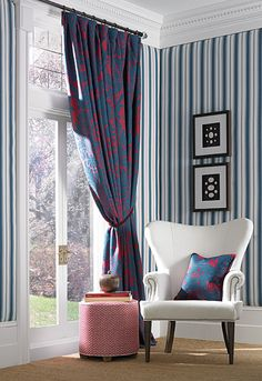 Allesandra Branca for Schumacher fabric......  stunning blue and fuschia!