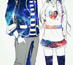 ♡ Galaxy Anime Couple ♡                                                       …