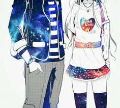 ♡ Galaxy Anime Couple ♡