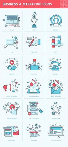 https://www.behance.net/gallery/24885487/Set-of-Flat-Line-Icons