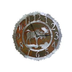 Moose Clock Quarts Movement 12 18 and 28 inch by CabinExclusive