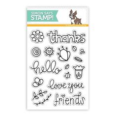 I'm so excited that asked me to design a stamp set as part of their release! This set is and is meant to stamp a floral wreath with words to go inside it. Looking forward to playing with it! Thanks for the opportunity! Heart Banner, Card Companies, Simon Says Stamp, Digi Stamps, Clear Stamps, Rainbow Colors, Cardmaking, Greeting Cards, Thankful