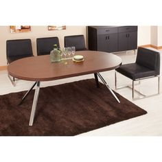 Shop for Furniture of America Trexton Walnut Finish Dining Table/ Office Desk. Get free shipping at Overstock.com - Your Online Furniture Outlet Store! Get 5% in rewards with Club O! - 13955156