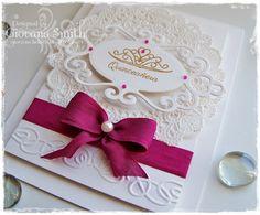 Giovana usá el set Sueña de #Latina Crafter para crear esta hermosa y delicada tarjeta para una Quinceañera!