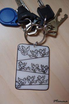 Bird keychain.