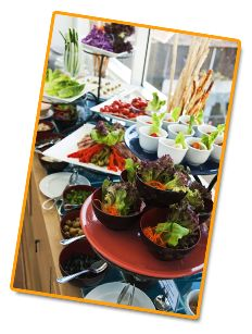 We have very special for everyone whether it is for corporate catering, breakfast platter, desk top cuisine, healthy lunch, hospital cafeteria and industrial cafeteria. We specialize as church event caterer, American box lunch, dieter's box lunch, full service party caterer and party platter.