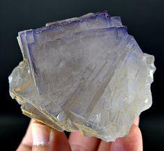 324 Grams Top Quality Blue Color & Color Change Fluorite Specimen From PAK