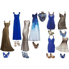 Ravenclaw- Yule Ball by rianna97 on Polyvore featuring polyvore, fashion, style, Bari Jay, Notte by Marchesa, Lipsy, rsvp, Wallis, Office and Miu Miu