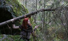 (c) Arto Löfgren photography   #celtic #girlintheforest #loveforests #fairy #tribal #warrior #style #fantasy #finnishgirl #finnishforest