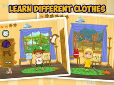 Kids Clothes & Seasons: Learn to dress up ($1.99) Are you ready to play outside? First of all you must get the right clothes on... Look out of your window to see what the weather is like. Choose suitable clothing from your wardrobe and you are ready to go!