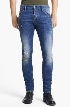 $525, Blue Skinny Jeans: Dsquared2 Cool Guy Skinny Fit Jeans. Sold by Nordstrom. Click for more info: https://lookastic.com/men/shop_items/39042/redirect