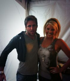 Canaan Smith, wearing Lauren's jacket and Lauren Alaina without her jacket. :) The two opening acts for Sugar Land 2012 tour, April 2012.