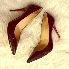 """Authentic Christian Louboutin AUTHENTIC Christian Louboutin """"Décolleté 554 100 patent"""" heels. Color: black patent. Size: 38. Worn twice for a short time. Near perfect condition. Only signs of wear are on the soles of the heels and a minor surface scratch as seen in the last picture. Bought at Saks Fifth Avenue NYC. I can provide the receipt for proof of authenticity. Can post more pics upon request. Christian Louboutin Shoes"""