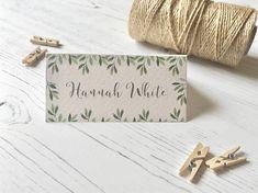 Botanical Green Place Cards Wedding Name Cards Reception