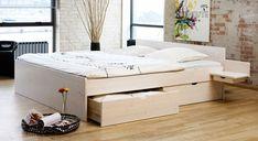 Schubkastenbett Norwegen in Massivholz mit viel Stauraum | Betten ...