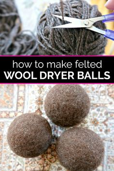 Learn how to make the best DIY felted wool dryer balls to reduce static and laundry drying time. Cleaning Recipes, Cleaning Hacks, Arm And Hammer Super Washing Soda, Laundry Drying, Laundry Hacks, Laundry Detergent, Wool Dryer Balls, Natural Cleaning Products, Natural Essential Oils