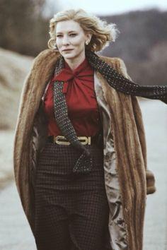 Carol - Cate Blanchett Cate Blanchett Carol, Tilda Swinton, Vintage Fur, Keira Knightley, Gwyneth Paltrow, Star Fashion, Celebrity Style, Autumn Fashion, Celebs