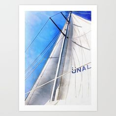 The Sails Of Unal Kaptan is an original acrylic painting on canvas of a Turkish Gulet in the bay of Marmaris. Keep The #Wind In Your #Sails Art #Print by Taiche | Society6 https://society6.com/product/keep-the-wind-in-your-sails-7xi_print#s6-8092669p4a1v45