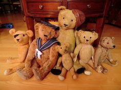 antique bears by valjfal, via Flickr these bears date from pre WW1