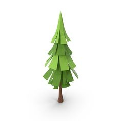 Low Poly Pine Tree Object