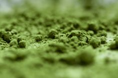Closeup matcha powder green tea Japan