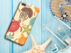 iPhone 6/6s/6 Plus/6s Plus/5s, Samsung Cases, LG Phone, Minimalist, Sea Creatures, Jellyfish, Sea Turtle, Star Fish, monogram, phone case by SaidTheOwl on Etsy