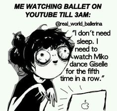 Haha! I could watch Dance moms or any dance performance videos all night!