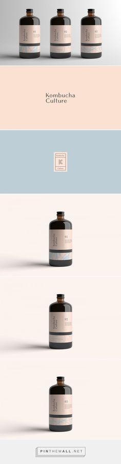 Kombucha Culture Tea Packaging by Kati Forner Tea Packaging, Bottle Packaging, Print Packaging, Graphic Design Branding, Label Design, Package Design, Design Food, Web Design, Packaging Design Inspiration