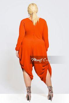 17b33623dc2fd Trixie Draped Plus Size Jumpsuits - Monif C
