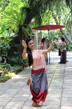 Thai dancer at Jim Thompsons House Bangkok Thailand   by adrienne_bartl