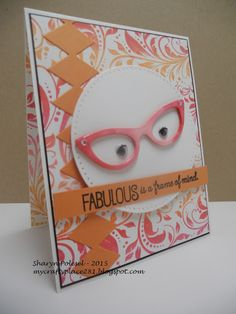 What a fun contest! It certainly got my juices flowing. I am entering this card in the My Favorite Things Superstar Card Contest. Creative Cards, Creative Ideas, Die Cut Cards, New School Year, Cards For Friends, Letter Writing, Eye Glasses, Retail Design, I Card