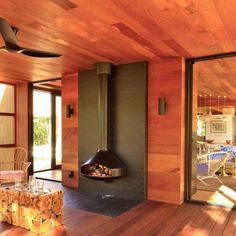 Wall Mounted Wood Fireplace: Modern Design