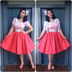 My Week In Outfits! - Miss Victory Violet Retro Mode, Vintage Mode, Vintage Girls, Vintage Dresses, Vintage Outfits, Vintage Style, Rockabilly Fashion, Retro Fashion, Vintage Fashion