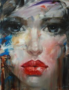 "Saatchi Online Artist: Stas Sugint; Oil 2013 Painting ""Catrine"""