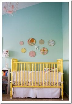 Teal and yellow - kids room