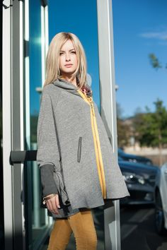 The Britt Cape in Charcoal – evy's tree