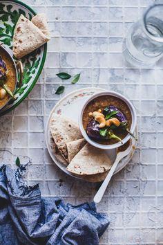 Baingan Ka Salan (Baby Eggplant In Coconut Cashew Gravy) | Playful Cooking, food photography, food styling
