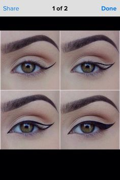 Step By Step Easy Wing Eyeliner Tips #Makeup #Trusper #Tip